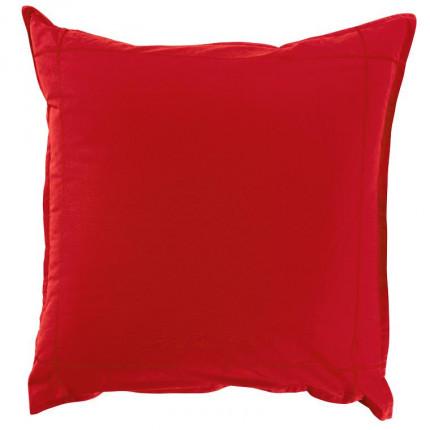 Taie d'oreiller carrée percale de coton Neo rouge