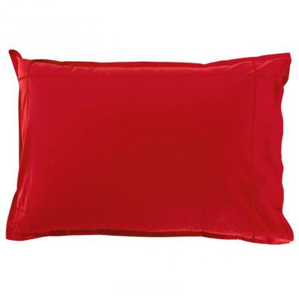 Taie d'oreiller rectangulaire percale de coton Neo rouge