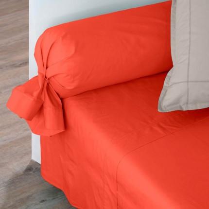 Drap de lit percale de coton Neo safran