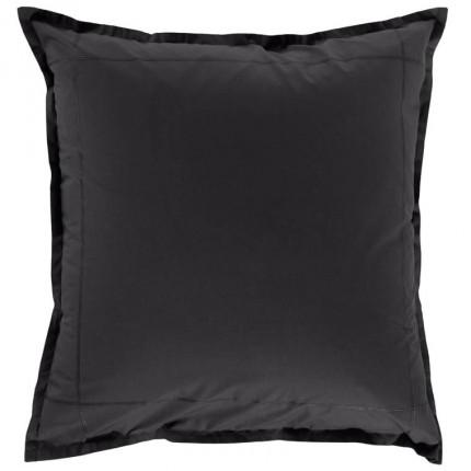 Taie d'oreiller carrée percale de coton Neo anthracite