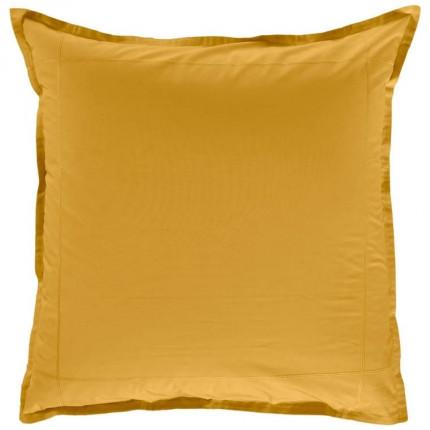 Taie d'oreiller carrée percale de coton Neo curry
