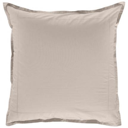Taie d'oreiller carrée percale de coton Neo lin