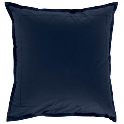 Taie d'oreiller carrée percale de coton Neo marine
