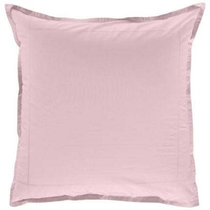 Taie d'oreiller carrée percale de coton Neo poudre