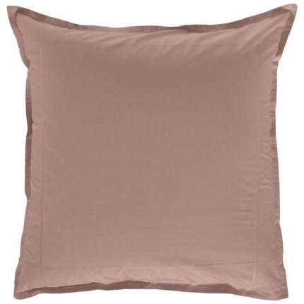 Taie d'oreiller carrée percale de coton Neo taupe