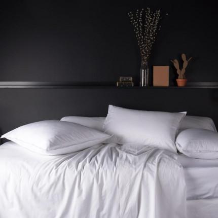 Parure de lit en percale de coton Neo blanc