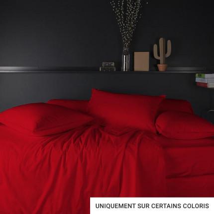 Parure de lit percale de coton Neo plusieurs coloris