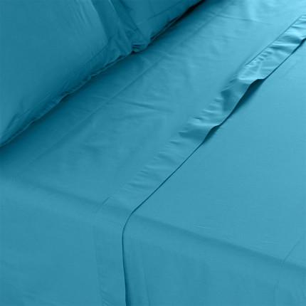 Drap de lit percale de coton Neo canard