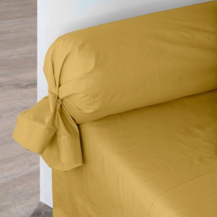 Drap de lit percale de coton Neo curry