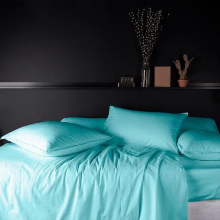 Parure de lit en percale de coton Neo lagon