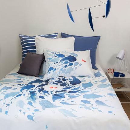 Parure de lit pur coton biologique imprimée poissons Odyssée urbain