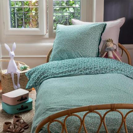Parure de lit enfant percale de coton imprimée liberty fleurs Ondine