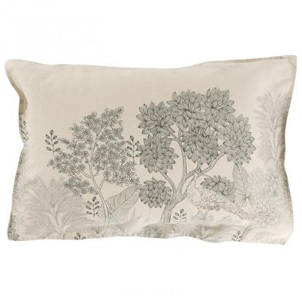 Taie d'oreiller rectangulaire lin coton forêt indienne Pandya