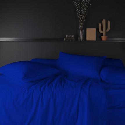 Parure de lit percale de coton Neo outremer