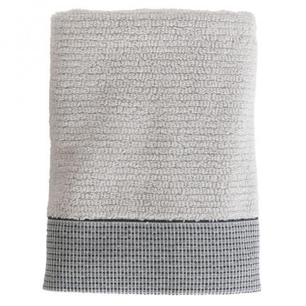 Serviette de toilette coton liteau jacquard Pixel gris