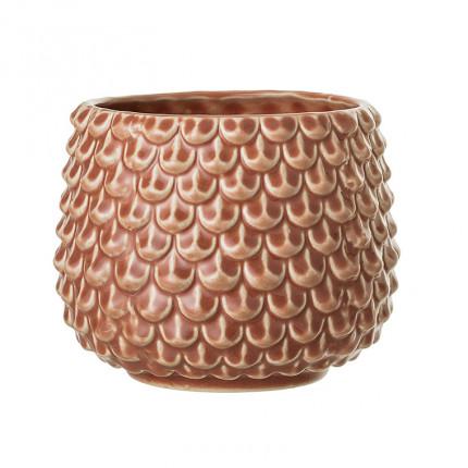 Pot à écailles en céramique DECO ORANGE