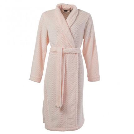 Robe de chambre femme polaire unie Promesse nude