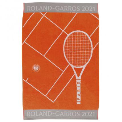 Serviette joueuse coton biologique Roland-Garros 2021 terre battue