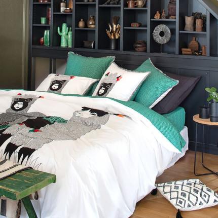 Parure de lit percale de coton imprimé Serge