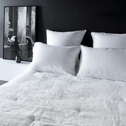 Parure de lit en lin lavé Songe blanc