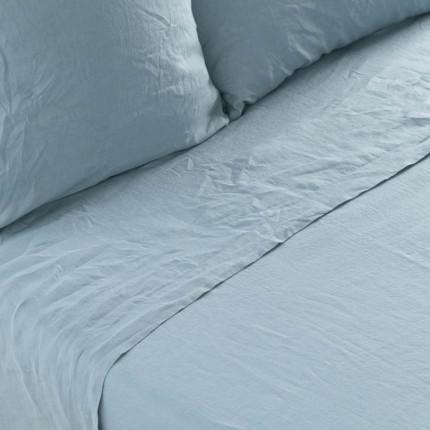 Drap de lit en lin lavé Songe argile