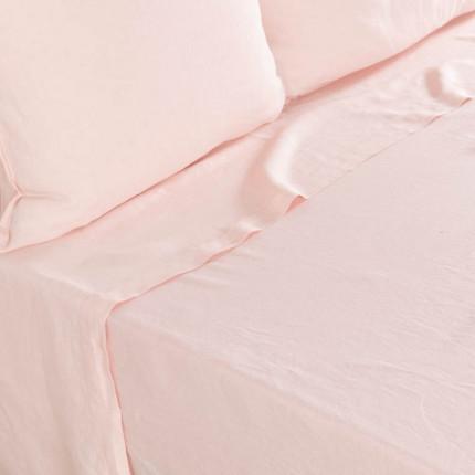 Drap de lit en lin lavé Songe pêche