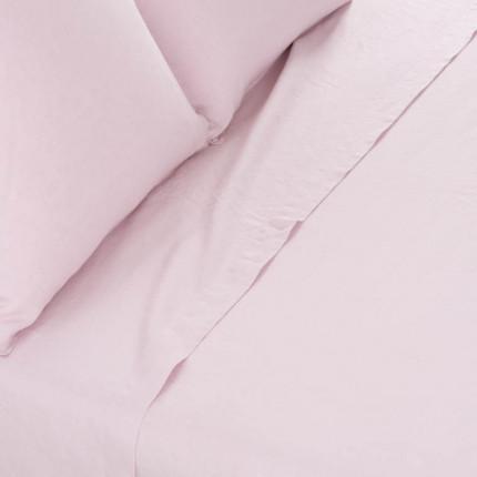 Drap de lit en lin lavé Songe poudre