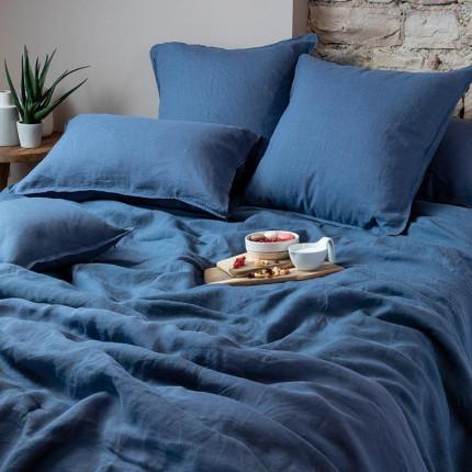 Parure de lit en lin lavé Songe encre
