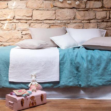 Parure de lit enfant en lin Songe argile