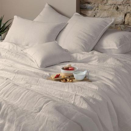 Parure de lit en lin lavé Songe grège