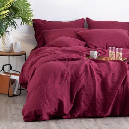 Parure de lit en lin en lin lavé Songe griotte