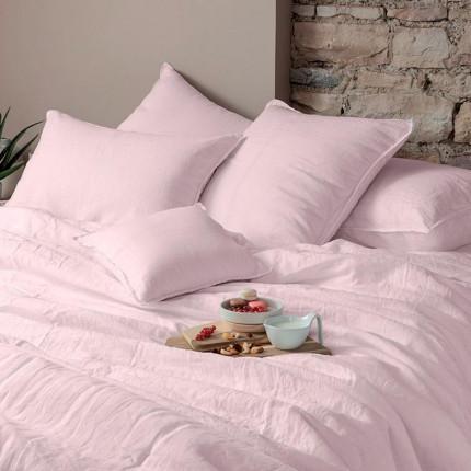 Parure de lit en lin lavé Songe poudre