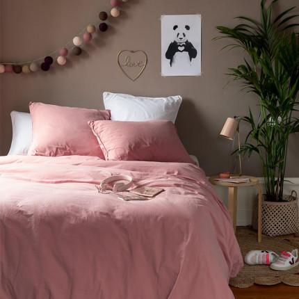 Parure de lit enfant en pur coton lavé biologique Souffle pétale