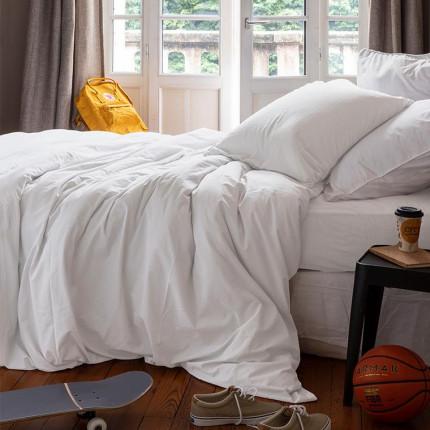 Parure de lit enfant en pur coton lavé biologique Souffle blanc