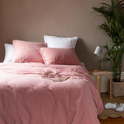 Parure de lit en pur coton lavé biologique Souffle pétale