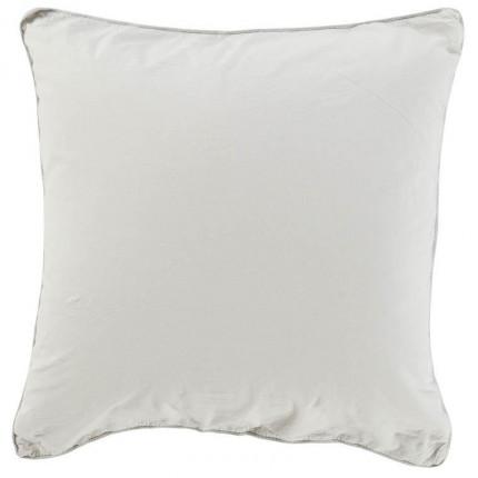 Taie d'oreiller carrée en pur coton lavé biologique Souffle nuage