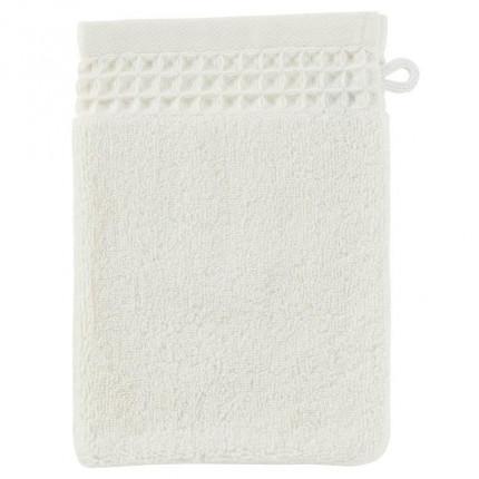 Gant de toilette bouclette de coton biologique Source écru