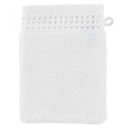 Gant de toilette bouclette de coton biologique Source blanc