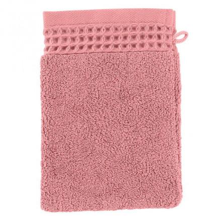 Gant de toilette bouclette de coton biologique Source pétale