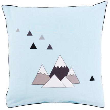 Taie d'oreiller carré coton imprimé montagne Timba