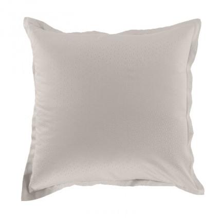 Taie d'oreiller carrée satin de coton Maestro lin