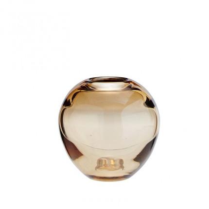 Vase en verre mordore DECO