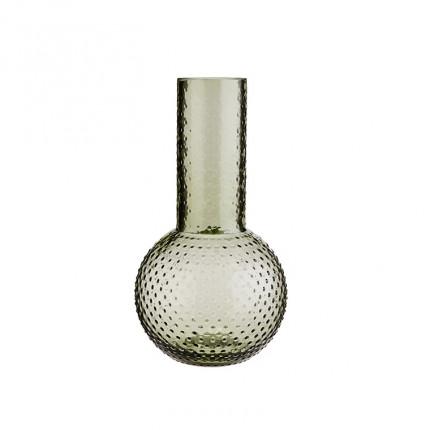 Vase en verre DECO VERT FONCE