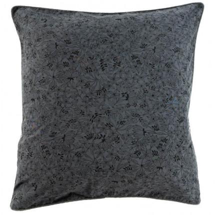 Taie d'oreiller carrée coton lavé imprimé bohème floral Vegetown