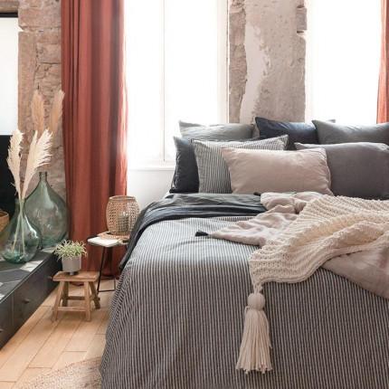 Parure de lit coton lavé Vegetown bohème