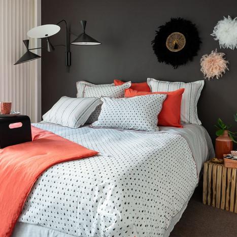 Parure de lit percale de coton ELLYN