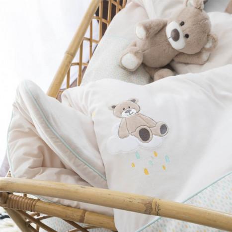 parure de lit b b linge de lit pour b b carr blanc. Black Bedroom Furniture Sets. Home Design Ideas