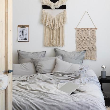 Parures de lit fantaisie marron linge de lit carre blanc - Parure de lit carre blanc ...
