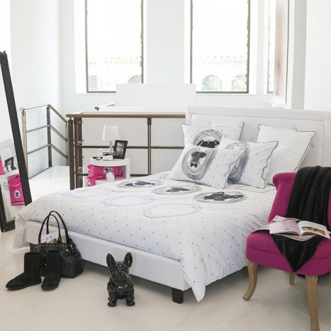 parures de lit unies ou color es composez sa parure de. Black Bedroom Furniture Sets. Home Design Ideas