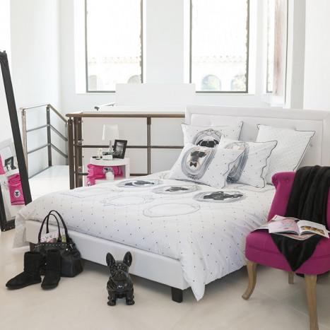 parure de lit enfant couette et drap pour lit d 39 enfant carr blanc. Black Bedroom Furniture Sets. Home Design Ideas